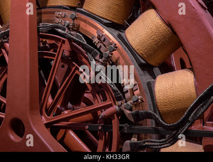 Steam engine and electric generator abstract - Stock Photo