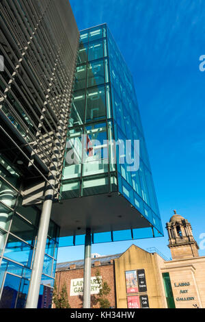 Public Library and Information Centre in Newcastle upon Tyne City Centre near the Laing Art Gallery - Stock Photo
