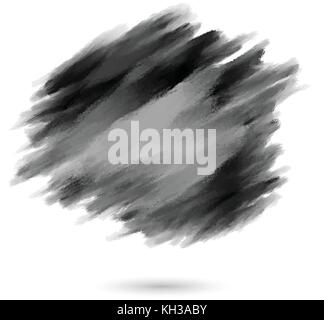 black paint ink water color brush strokes brushes lines dirty artistic for design elements - Stock Photo