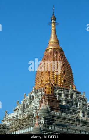 The Ananda Buddhist Temple in the ancient city of Bagan in Myanmar (Burma). Dates from 1105AD. - Stock Photo