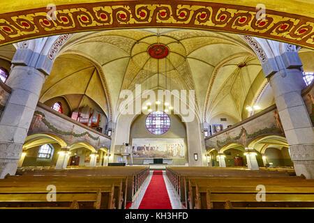 Tampere lutheran church interior. Finland landmark heritage. Suomi, Europe - Stock Photo