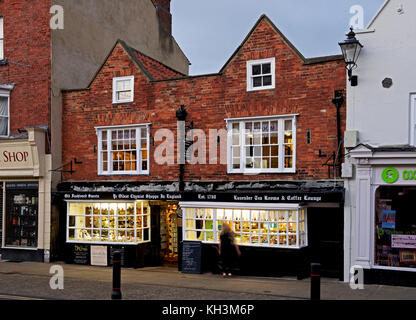 The oldest chemist shop in England, Knaresborough, North Yorkshire, England UK - Stock Photo