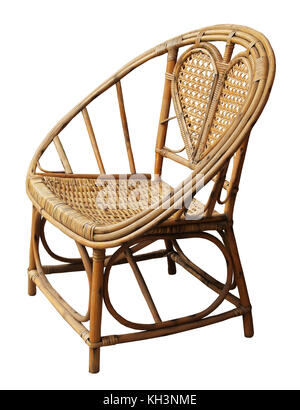 Rattan chair / Isolated white - Stock Photo