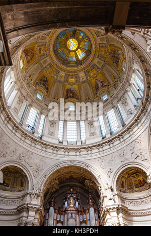 BERLIN, GERMANY - SEPTEMBER 13, 2017: decorated walls in Berlin cathedral (Berliner Dom). The current building was - Stock Photo