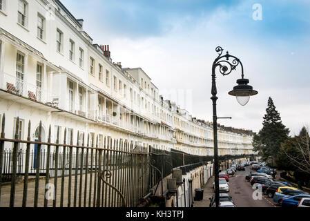 Royal York Crescent in Bristol, UK - Stock Photo