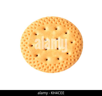 round biscuits isolated on white background, Sandwich biscuits, Cracker isolated on over white - Stock Photo