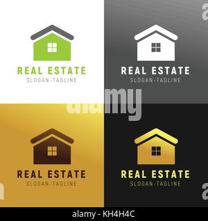 Go Green Real Estate Vector Illustration Logo Graphic - Stock Photo