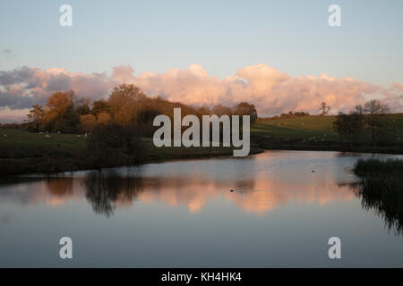 Exterior of the grounds of stately home Compton Verney in Kineton, United Kingdom. Compton Verney House is an 18th - Stock Photo