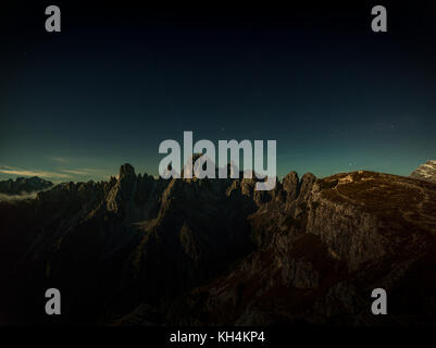 A beautiful evening in the mountains, a romantic sunset, a cool evening, hiking, panorama, a wonderful landscape - Stock Photo