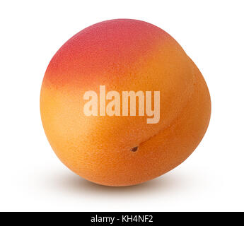 Fresh ripe apricot isolated on white background. Clipping Path - Stock Photo