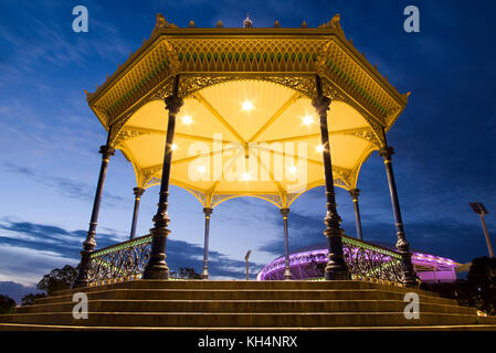 Rotunda at night in Elder Park, Adelaide, South Australia - Stock Photo