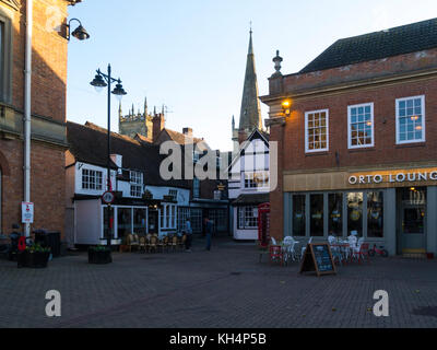 Market Place Evesham Town Centre Worcestershire England UK - Stock Photo