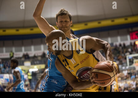 Andre Jones (Fiat Torino Auxilium) during the Basketball match, Serie A: Fiat Torino Auxilium vs Vanoli Cremona. - Stock Photo