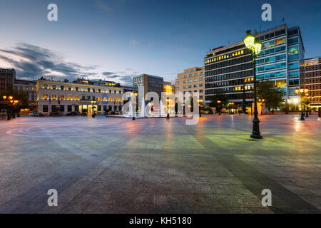 Building of the city hall of Athens in Kotzia square. - Stock Photo
