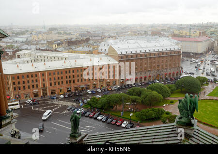 07.07.20.Russia.Saint-Petersburg.Views of hotel Astoria,.The picture was taken from St. Isaac's Cathedral. - Stock Photo