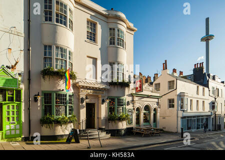 Autumn afternoon in Brighton city centre, East Sussex, England. - Stock Photo