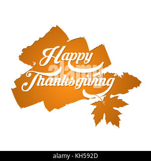 Happy Thanksgiving typography poster. Celebration design for banner, postcard, event, card, icon logo. Vector vintage - Stock Photo