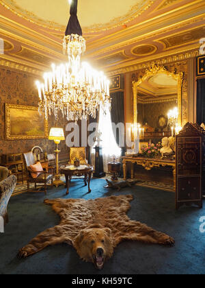 Sitting room of the Dutch Royal Family on display in the het Loo
