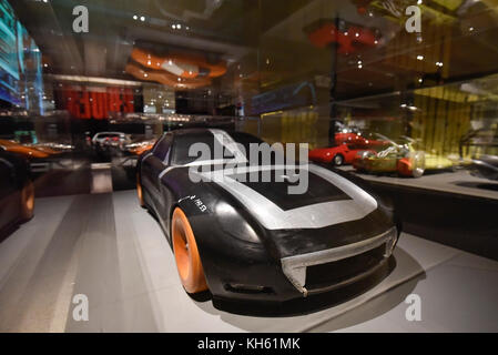 London, UK.  14 November 2017. Wind tunnel model for the Ferrari 612 Scaglietti, 2004. Preview of 'Ferrari: Under - Stock Photo