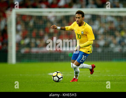 London, UK. 14th Nov, 2017. Neymar of Brazil in action during the Friendly international match between England and - Stock Photo