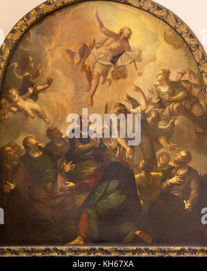 LONDON, GREAT BRITAIN - SEPTEMBER 14, 2017: The painting of Ascension of the Lord in church St. Vedast alias Foster - Stock Photo