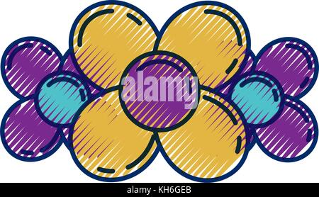 balloon in the shape of a flowers on the white background - Stock Photo