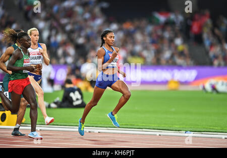 Ajee Wilson - 800m women Bronze Medal - IAAF World Championships - London 2017 - Stock Photo