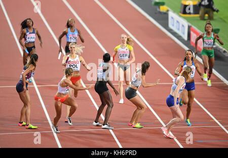 4x400 relays women - IAAF World Championships - London 2017 - Stock Photo