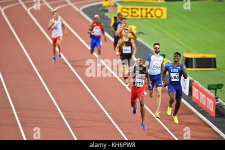Trinidad & Tobago - 4x400 Men's relays Gold Medal - IAAF World Championships - London 2017 - Stock Photo