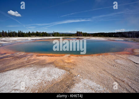 WY02596-00...WYOMING - Turquoise Pool, a hot spring in Midway Geyser Basin area of Yellowstone National Park. - Stock Photo