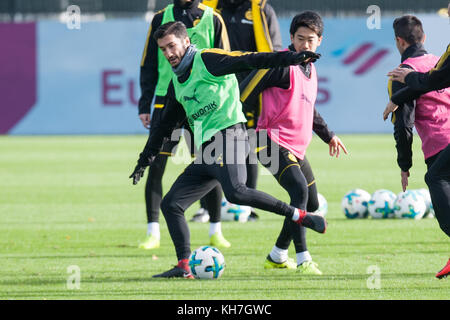 Nuri SAHIN (li., DO) versus Shinji KAGAWA (DO), Aktion, duels,  Fussball 1. Bundesliga, Training, Borussia Dortmund - Stock Photo