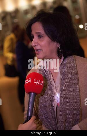 Paris, France. 14th Nov, 2017. UNESCO, the Culture Minister of Bahrain, Sheikha Mai Bint Mohammad Al Khalifa, Credit: - Stock Photo