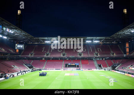 Koeln, Deutschland. 14th Nov, 2017. Rhein-Energie-Stadion Koeln vor dem Spiel. GES/ Fussball/ Freundschaftsspiel: - Stock Photo