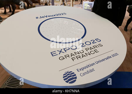 Paris, France. 14th Nov, 2017. Presentation of the project EXPO 2025 GRAND PARIS FRANCE and the 100 young Ambassadors - Stock Photo