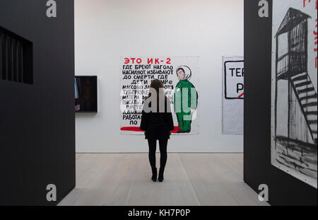 Saatch Gallery, London, UK. 15 November, 2017. The Tsukanov Family Foundation and Saatchi Gallery open Art Riot: - Stock Photo