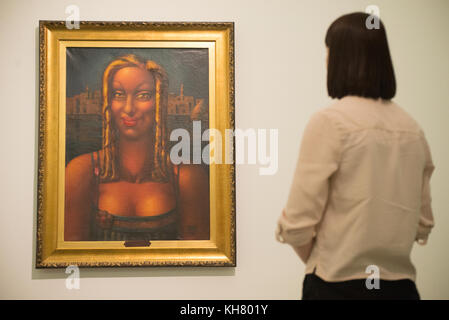 Liverpool, UK. 16th Nov, 2017. 'La fille aucx boucles d'or' by artist Mahmoud Said on display in the 'Surrealism - Stock Photo