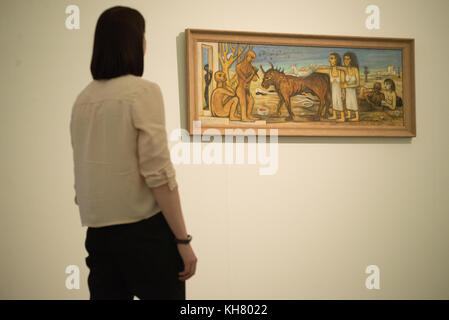 Liverpool, UK. 16th Nov, 2017. Artwork (unknown) on display in the 'Surrealism in Egypt: Art et Liberté 1938-1948' - Stock Photo