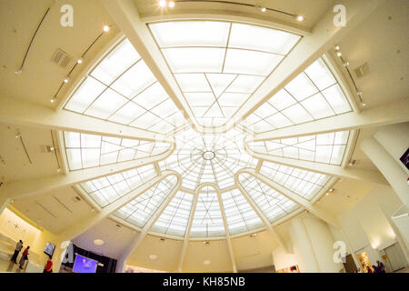 Central skylight Guggenheim Museum, 5th Avenue, Manhattan, New York City, NY, United States of America. U.S.A. - Stock Photo