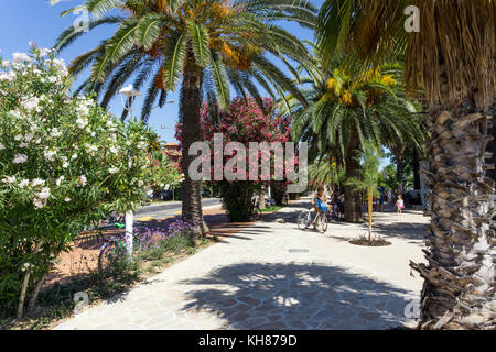 Italy,Marche,San Benedetto del Tronto,the promenade - Stock Photo