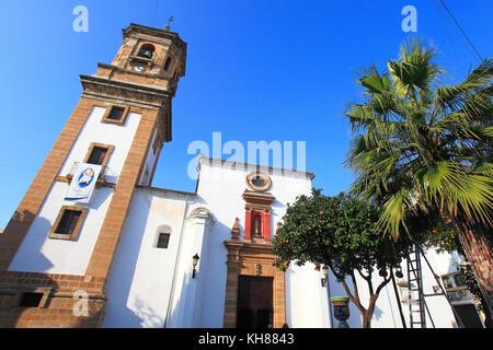 Spain, Andalousia. Algeciras. Plaza Alta. Iglesia Nuestra Señora de la Palma. - Stock Photo