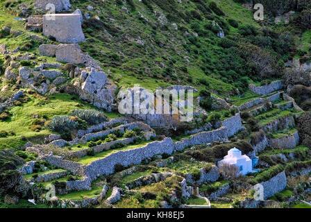 Greece, Aegean Islands, karpathos island, Olympos is a village and a former community on the island of Karpathos, - Stock Photo