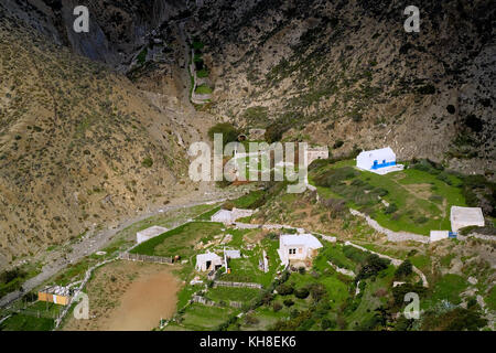 Greece, Aegean Islands, Olympos is a village and a former community on the island of Karpathos - Stock Photo