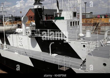 AJAXNETPHOTO. 15TH JUNE, 2009. PORTSMOUTH, ENGLAND. - M29 CLASS MONITOR, HMS M.33 IN SCHEDULED ANCIENT MONUMENT - Stock Photo
