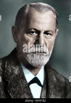 Sigmund Freud, founder of psychoanalysis. born Moravia, 1856-1939. - Stock Photo