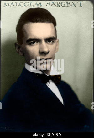 Malcolm Sargent portrait as young man, 1920's. English conductor 1895-1967 Herbert Lambert photo - Stock Photo