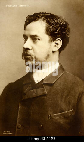Francis Thomé . French pianist and composer.18 October   1850, Port Louis, Mauritius - 16 November   1909. - Stock Photo