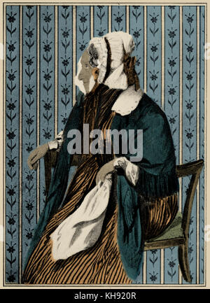 Richard Wagner 's mother Johanna Rosine (formerly Bertz) . In old age. After a watercolour by Auguste Böhm. RW:German - Stock Photo