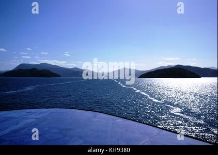 Marlborough Sounds South Island, New Zealand - Stock Photo