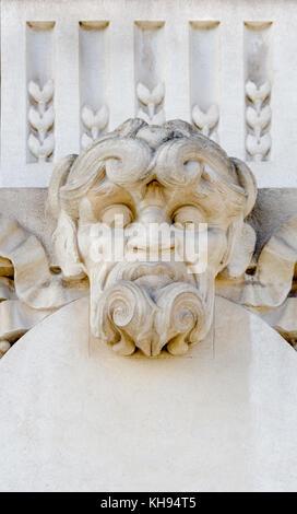 Paris, France. Grand Palais des Champs-Élysées: facade detail - mascaron - Stock Photo