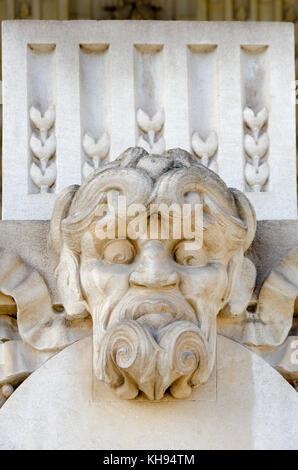 Paris, France. Grand Palais des Champs-Élysées: facade detail. Mascaron - Stock Photo
